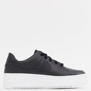 Nike Air Force 1 Sage Low Black Leather